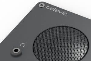 Système de conférence à encastrer bas parleur avec prise casque - Confidea F-CD Televic Conference