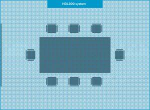 Microphone pour système de conférence Mist comparison final MM HDL300 system Nureva