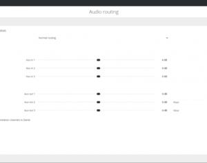Logiciel Plixus AE-R Confidea Audio routing