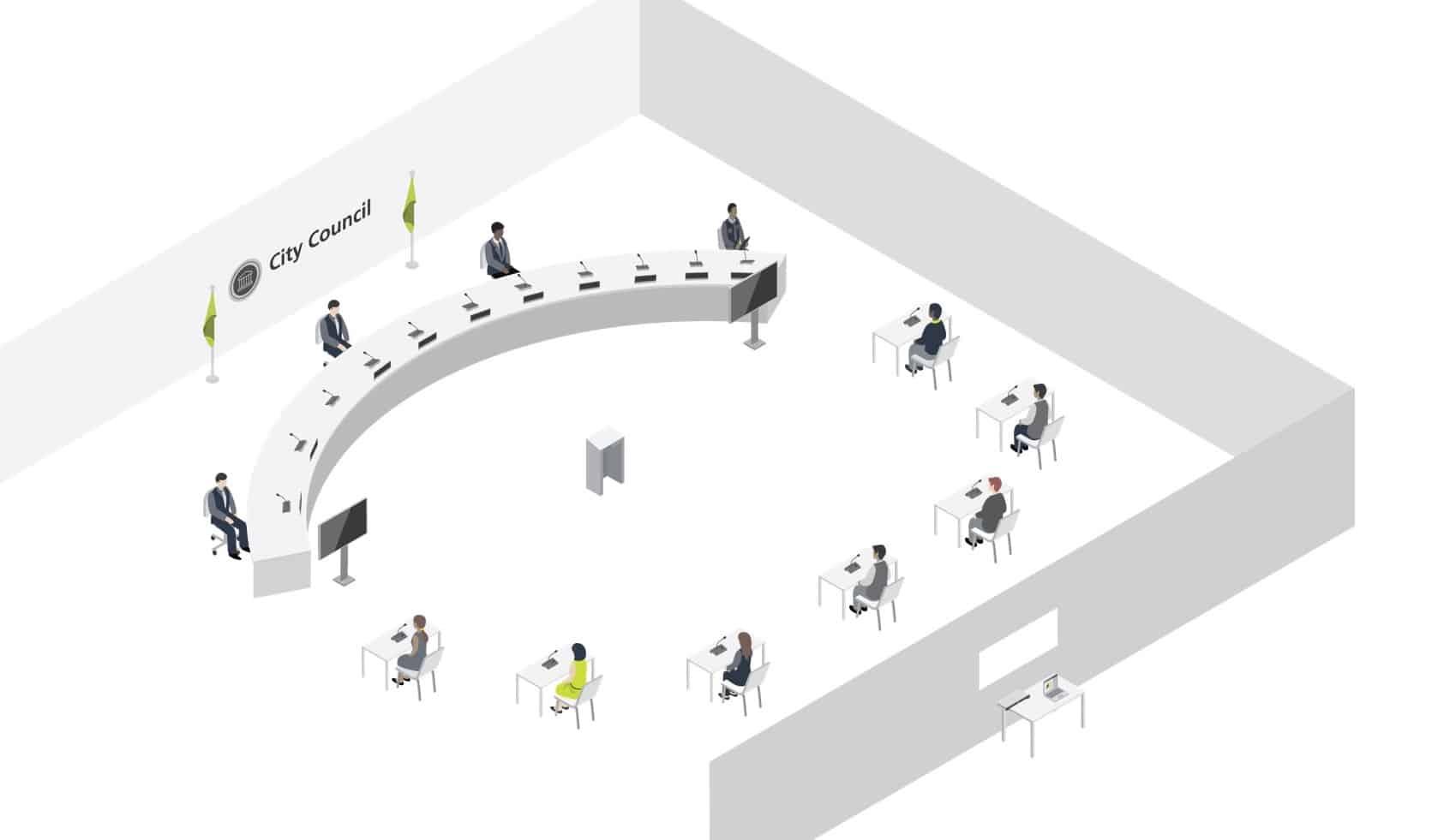 Des réunions et conférences en tout sécurité COVID 19 Televic Conference