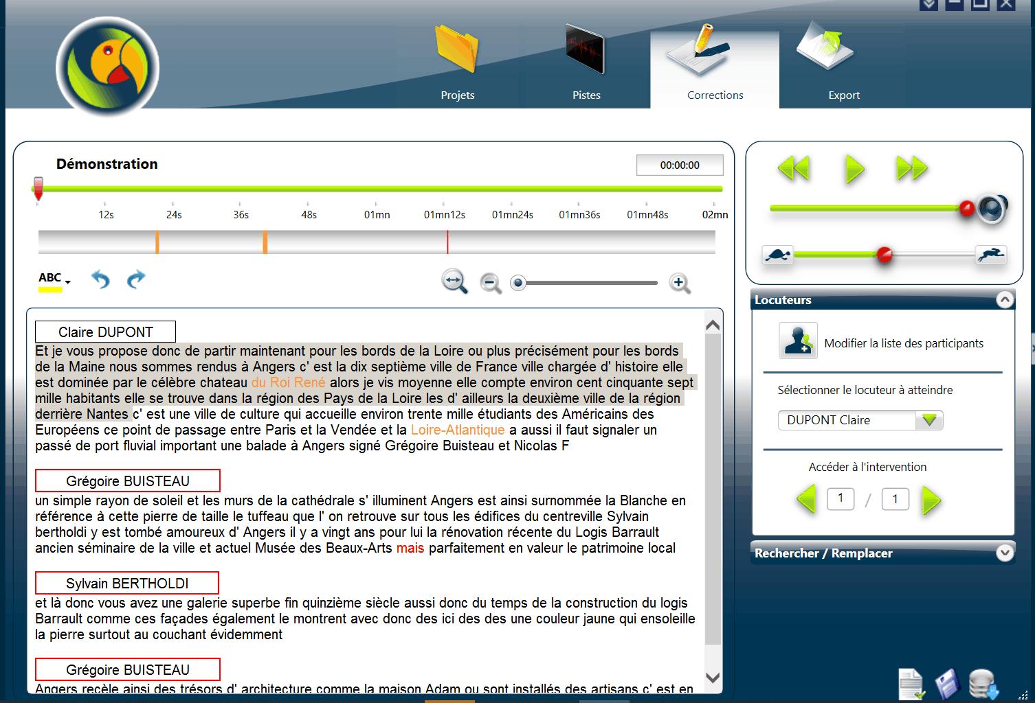 Logiciel de transcription automatique d'audio CAPTOO