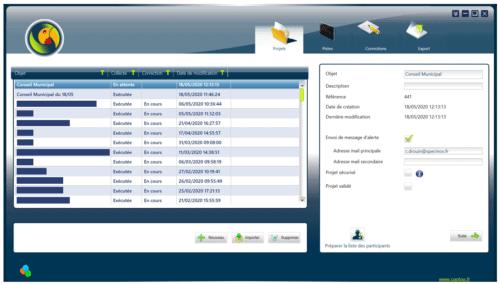 CAPTOO Transcription automatique Onglet Projet