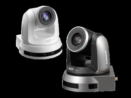 Caméra tourelle PTZ IP noire blanche VC A50PN Lumens
