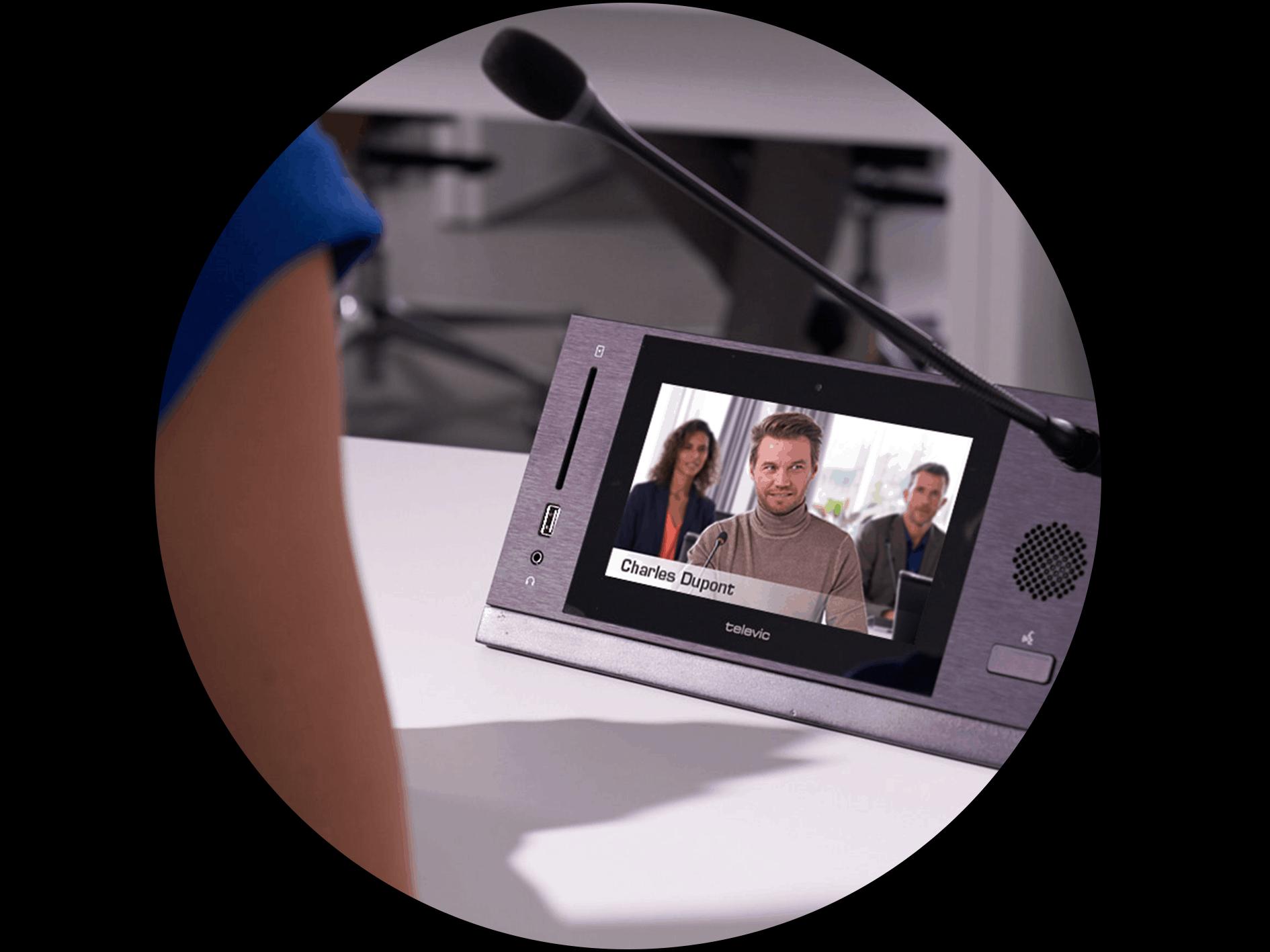 Poste de conférence multimédia uniCos - Televic